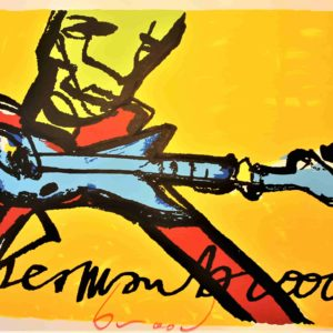 "Herman Brood zeefdruk ""Guitar man"""