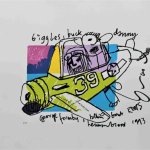 "Herman Brood zeefdruk ""MR Biggles"""
