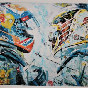 Eric Jan Kremer - Max Verstappen en Lewis Hamilton