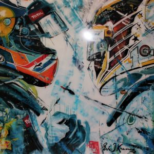 Eric Jan Kremer - Max Verstappen en Lewis Hamilton Schilderij