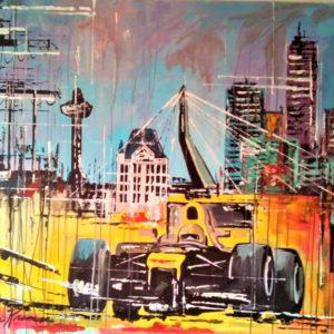 Eric Jan Kremer - schilderij - Rotterdam City Race